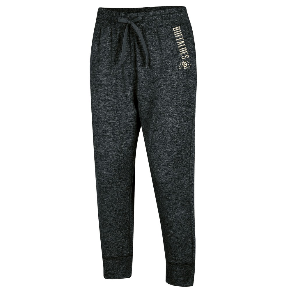 Colorado Buffaloes Women's Relaxed Fit Cropped Sweatpants M, Multicolored