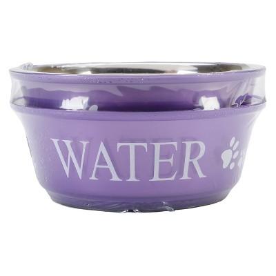 Buddy's Line Food & Water Double Pet Bowl Set - Lilac (1qt)