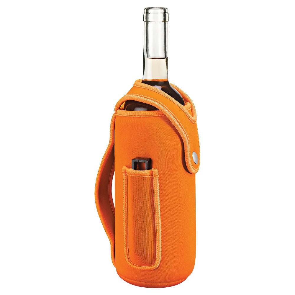 Zevro The Wine Glove Wearable Wine Cozy, Orange