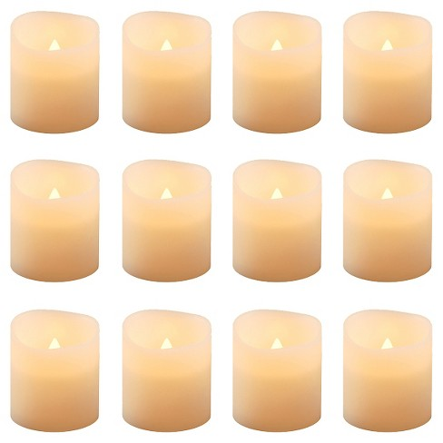 12ct Amber Battery Operated LED Votive Candles - image 1 of 4