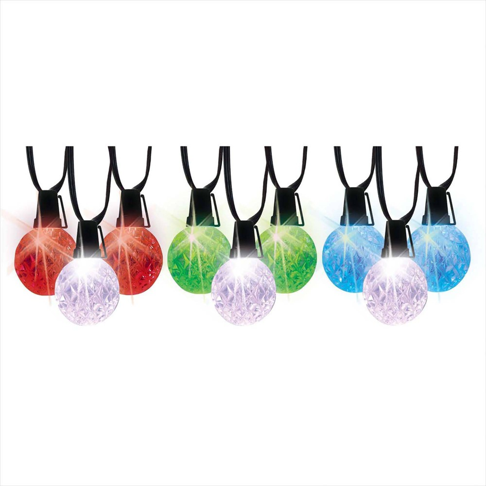 Image of 10ct Multi LED Globe String Lights