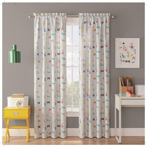 """42""""x84"""" Adogable Blackout Curtain Panels - Waverly Kids - image 1 of 3"""