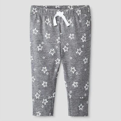 Baby Boys' Star Print Jogger Pants Cat & Jack™ - Gray 0-3M