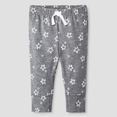 Baby Boys' Star Print Jogger Pants Cat & Jack™ - Gray Newborn
