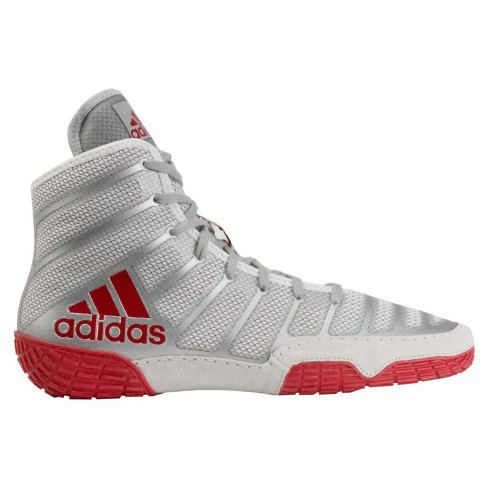 quality design 56333 e9c37 Adidas Men s Adizero Varner Wrestling Shoes - Silver Red