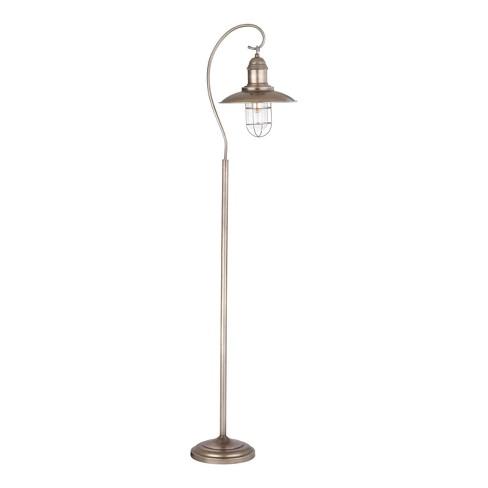 Romelo Floor Lamp Silver (Includes Energy Efficient Light Bulb) - Safavieh - image 1 of 2