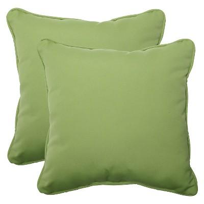 Sunbrella® Canvas Outdoor 2-Piece Square Throw Pillow Set - Green
