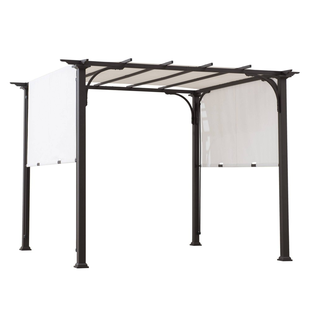 Image of Lindberg 8' x 8' Steel Frame Canopy Outdoor Vented Pergola - Sunjoy