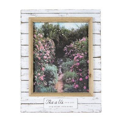 """Antique White 8x10 Inch """"This is Us"""" Wood Decorative Picture Frame - Foreside Home & Garden"""
