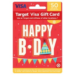 Visa Happy B-Day Gift Card - $50 + $5 Fee
