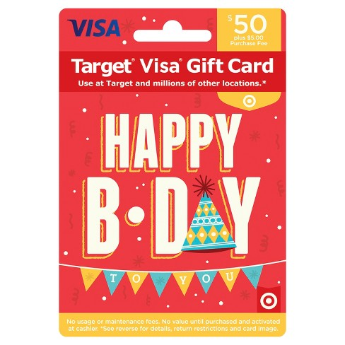 Visa Happy B Day Gift Card