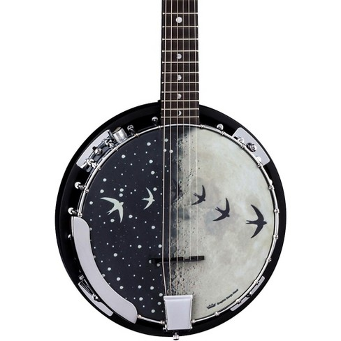 Luna Guitars Moonbird BGB 6-String Acoustic-Electric Banjo Satin Black - image 1 of 4
