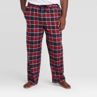 Men's Big & Tall Plaid Flannel Pajama Pants - Goodfellow & Co™ Navy/Red
