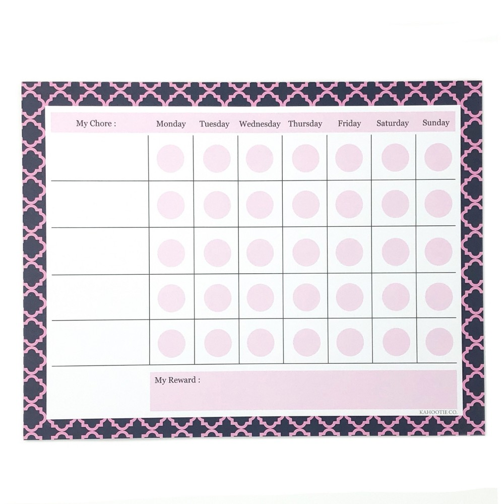 "Image of ""Chore Chart Notepad 8.5""""x11"""" Pink- Kahootie Co, Blue"""