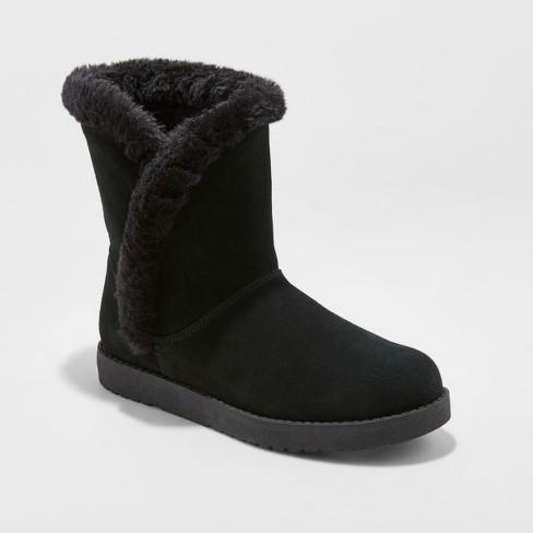 Women s Daniah Suede Winter Boots - Universal Thread™   Target 74ef12567