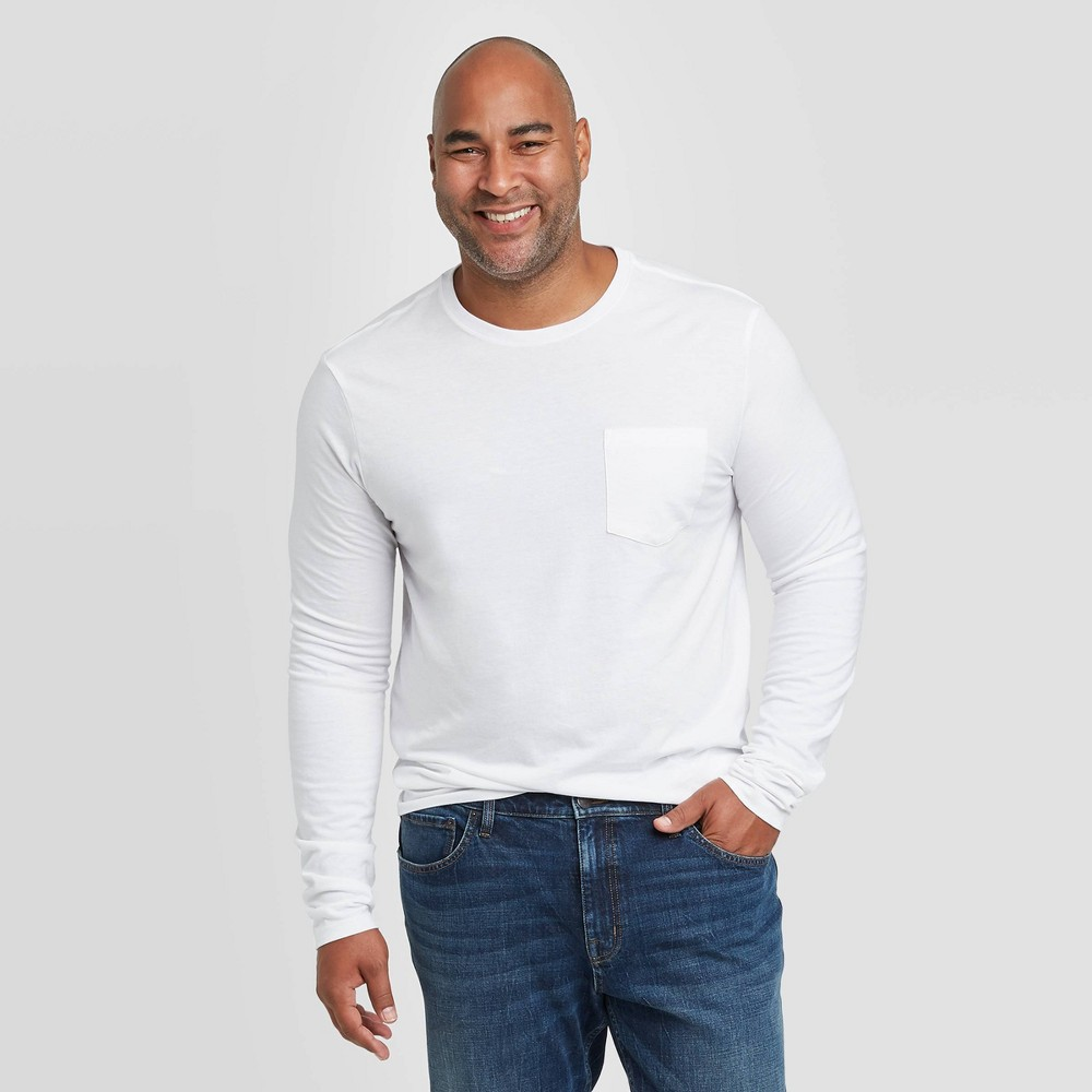 Promos Men's Tall Standard Fit Long Sleeve Novelty Crewneck T-Shirt - Goodfellow & Co™