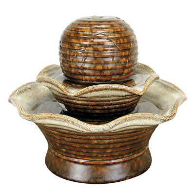 Tiered Ball Indoor Water Fountain With Pump - Foreside Home & Garden