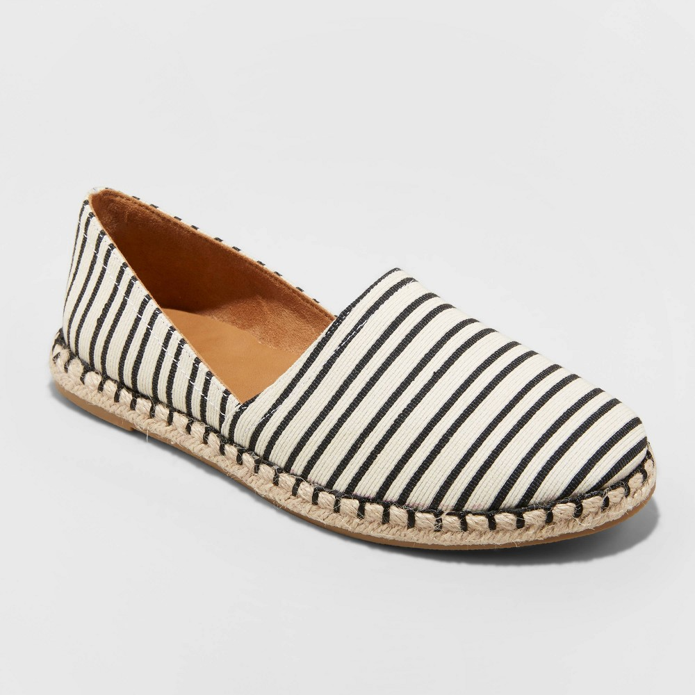 Image of Women's Andi Microsuede Espadrille Flats - A New Day Cream 10, Women's, Ivory