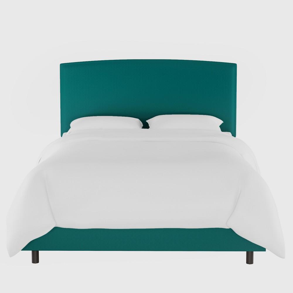 Upholstered Bed Twin Velvet Teal - Opalhouse