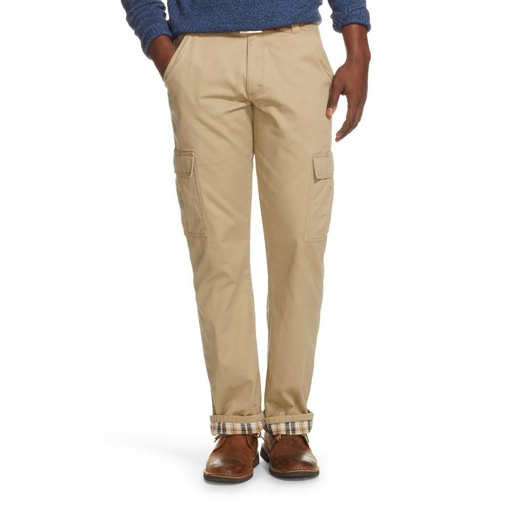 Wrangler Men's Flannel Lined Cargo Pants Khaki (Green) 32X32