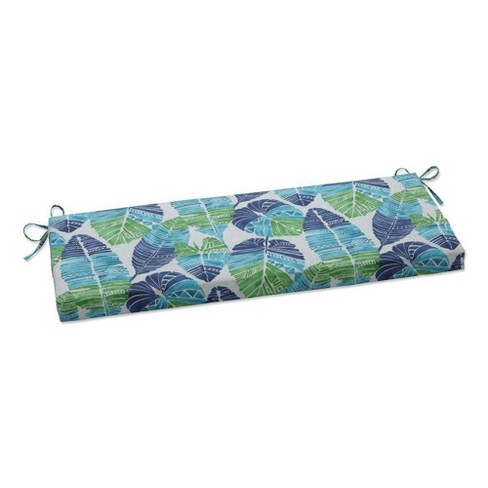 "45"" x 18"" Outdoor/Indoor Hixon Caribe Blue Bench Cushion - Pillow Perfect - image 1 of 1"