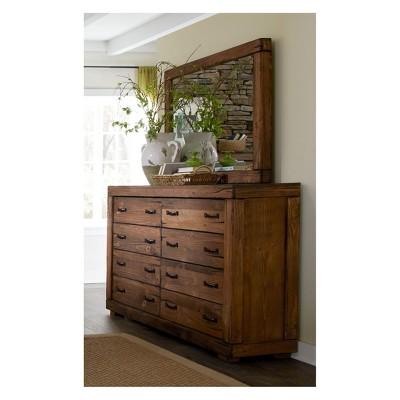 Maverick Drawer Dresser and Mirror Driftwood - Progressive