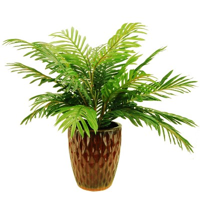 Artificial Palm Plant - Green - 24in - LCG Florals