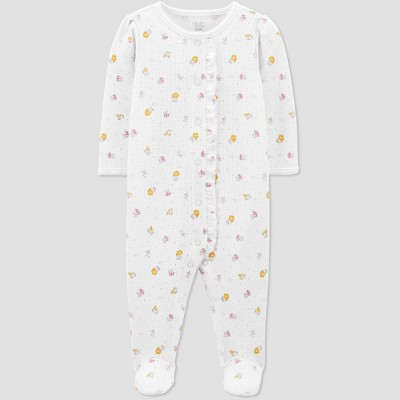 Baby Girls' Floral Sleep N' Play - Just One You® made by carter's Ivory 6M