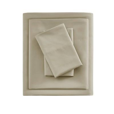 King Smart Cool Microfiber Sheet Set Khaki