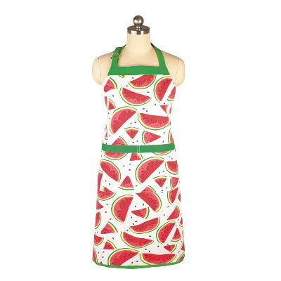 Cooking Apron Watermelon Print Green/Red - Mu Kitchen