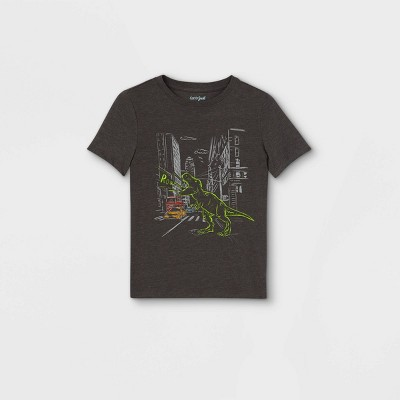 Boys' Short Sleeve Graphic T-Shirt - Cat & Jack™ Gray