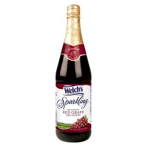 Welch's Sparkling Red Grape Juice - 25.4 fl oz Glass Bottles - image 1 of 1