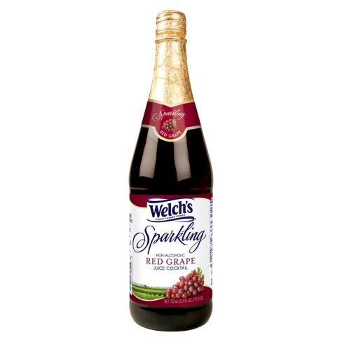 welch s sparkling red grape juice 25 4 fl oz glass bottles target