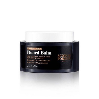 Scotch Porter Men's Facial Shape & Hold Beard Balm - 2oz