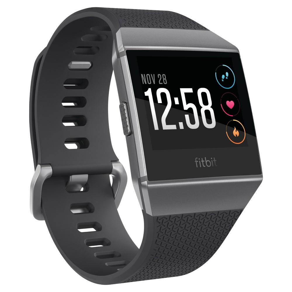 Fitbit Ionic Smartwatch Small Large Charcoal Smoke Gray