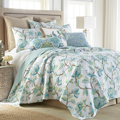 Cressida Floral Quilt and Pillow Sham Set - Levtex Home