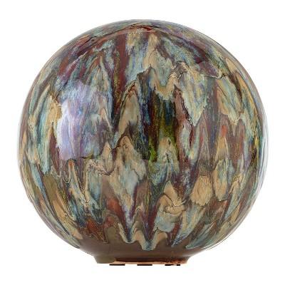 "Alpine 10"" Ceramic Gazing Globe Gray"