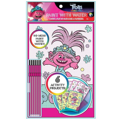 6pk Trolls Water Paint - Trolls - image 1 of 1