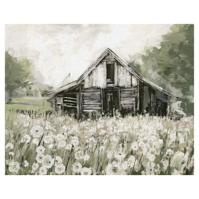 """22"""" x 28"""" Dandelion Barn by Studio Arts Wrapped Unframed Wall Art Canvas - Fine Art Canvas"""