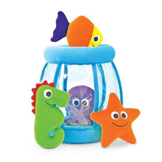 Melissa & Doug Deluxe Fishbowl Fill and Spill Soft Baby Toy image number null