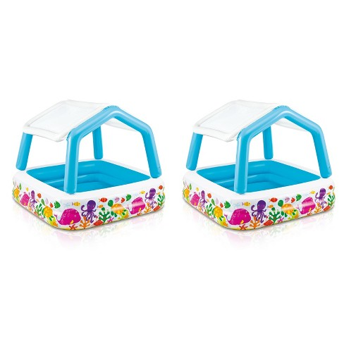 Intex Inflatable Ocean Scene Sun Shade Kids Pool With Canopy   57470Ep (2 Pack) - image 1 of 6