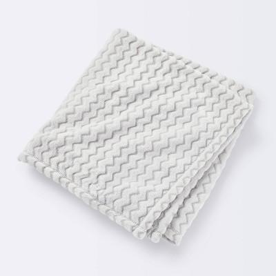 Plush Embossed Baby Blanket Chevron - Cloud Island™ Gray
