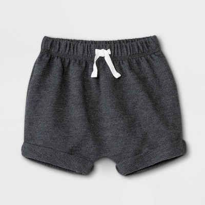Baby Boys' Knit Pull-On Shorts - Cat & Jack™ Charcoal Heather
