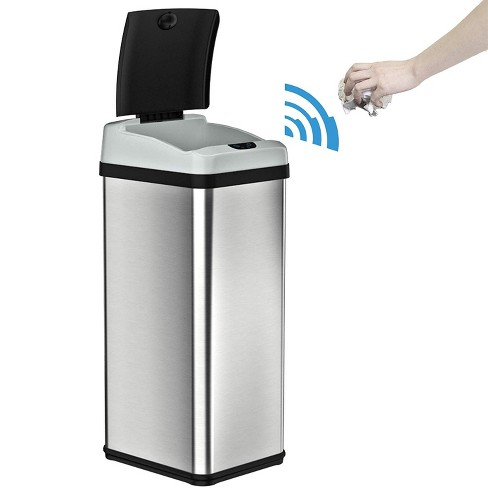 iTouchless IT13RX 13 Gallon Touchless Kitchen Garbage Trash Can, Stainless  Steel