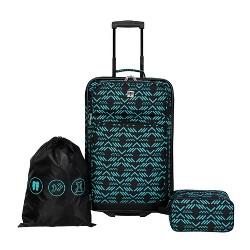 Skyline 3pc Luggage Set - Black Aztec