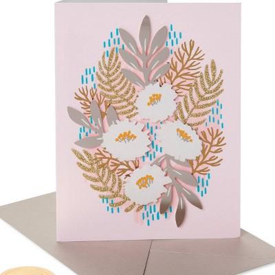 Metallic Floral Print Card - PAPYRUS