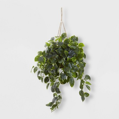 Pothos Hanging Basket UV Resistant - Nearly Natural