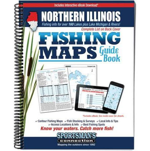 Northern Illinois Fishing Maps Guide Book (Paperback) - image 1 of 1