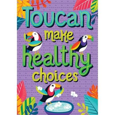 One World Toucan Make Healthy Choices Poster - Carson Dellosa