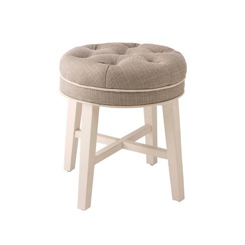 Outstanding 18 Sophia Vanity Stool White Gray Hillsdale Furniture Creativecarmelina Interior Chair Design Creativecarmelinacom